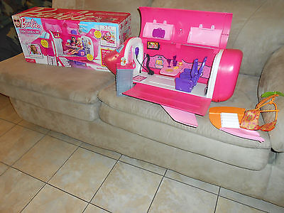 2009 BARBIE GLAM VACATION JUMBO JET PLANE w/BOX! All sounds work + accessories