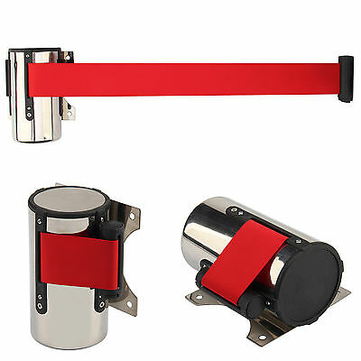 Retractable 5M Belts - Wall Mount Queue Rope Barrier Posts Crowd Control Ribbon