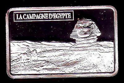 ● Silver Plated Bar ● France ● Napoleon In Front Of The Sphinx In Egypt ●●