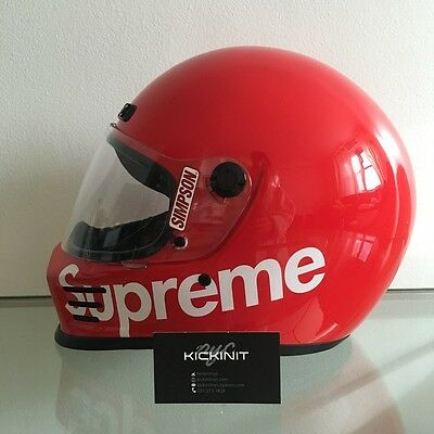 """Supreme X Simpson Street Bandit Helmet """"red"""" - Size Large - In Hand"""