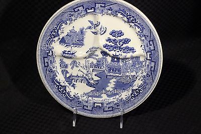 Vintage Buffalo China BLUE WILLOW Restaurant Ware #W10 Divided Grill Plate, USA