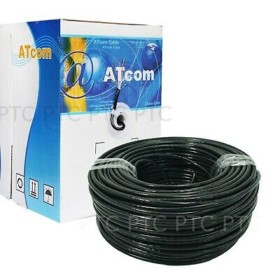 ATcom Black Premium Cat6 305m RJ45 Ethernet LAN Network Cable Cord Lead