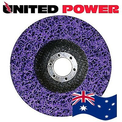 5 x 125mm x 22mm POLY STRIP DISC WHEEL PAINT RUST REMOVAL CLEAN GRINDER
