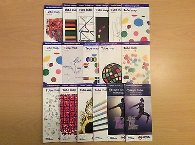 Tube Maps x17 October 2008 .. Night Tube October 2016 - various dates..