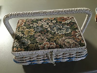 Retro Woven Sewing Basket