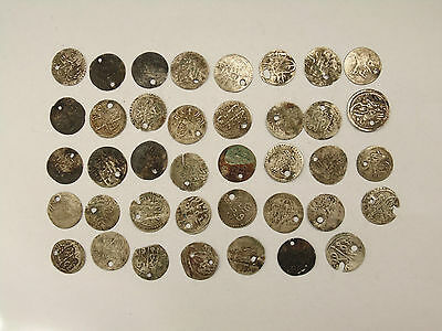 Lot 39 Antique Ottoman Empire Turkish Islamic Silver Akce Akche Coins №#10