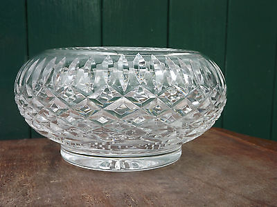 Tyrone Crystal fine cut large footed bowl 14cm diameter  fully stamped