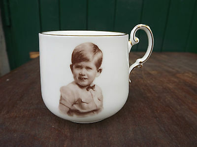 1950s Paragon China Young Prince Charles Child's Mug Fully Stamped