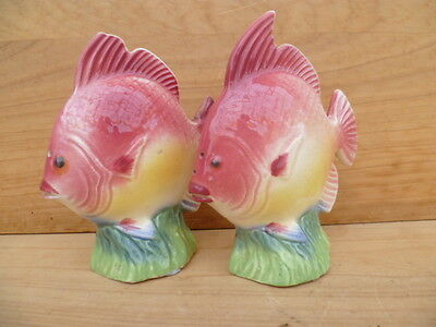 Vintage Old Fish, Sea Theme Salt And Pepper Shakers, S+P (C224)