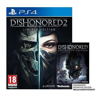 DISHONORED 2 Limited Edition PS4 NEUF Sous blister