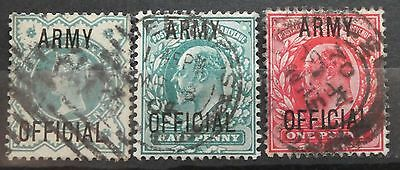 """GB QV & KEVII """"OFFICIAL"""", """"ARMY"""", mounted used"""