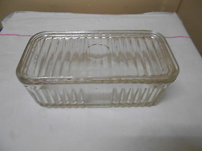 Depression Glass Oblong  Butter Dish With Lid
