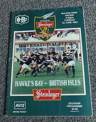 Hawke's Bay v British Lions / Isles 1993. Autographed / Signed