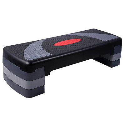 NEW Aerobic stepper Gym Workout Exercise Fitness 3 level block step