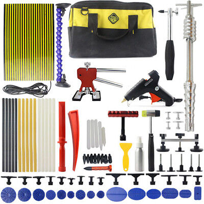 Auto PDR Tool Kit Paintless Dent Repair Hail Removal Slide Hammer LED line Board