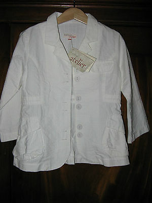 Catimini white suit jacket  ** AGE 4 ** BNWT