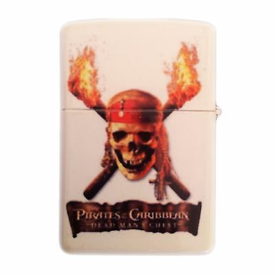 PIRATES OF THE CARIBEAN Windproof Refillable Fliptop Oil Lighter