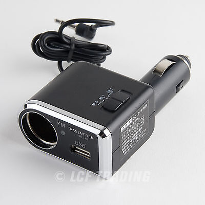 YAC TP-173 FM Transmitter for iPhone & iPod Touch with USB Port / Charger