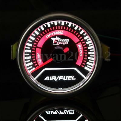 2'' 52Mm Universal Car Auto Led Air Fuel Ratio Afr Gauge Meter Smoked Lens