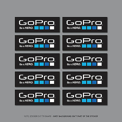 SKU2437 - 10 x Go Pro Be A Hero Stickers - Decals - 64mm x 22mm
