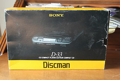 SONY DISCMAN D-33 VINTAGE - Made in Japan - CD COMPACT PLAYER