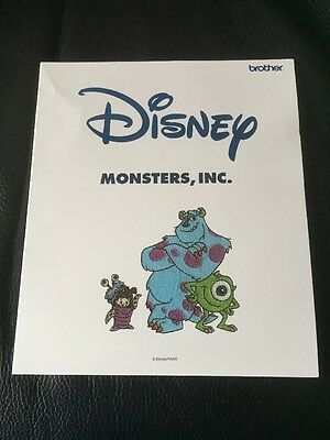 Brother PE Design  Disney Monsters Inc Embroidery Card