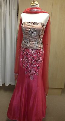 Coral lengha-  Indian Outfit