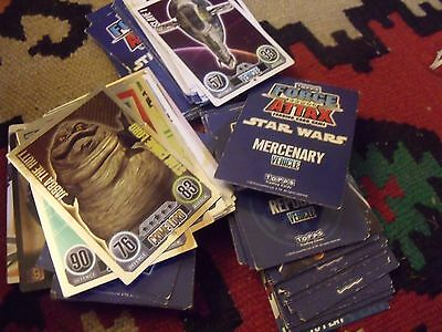 Star Wars Force Attax trading cards bundle (approx 150)