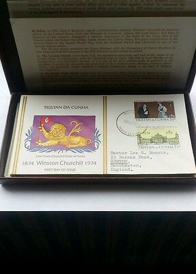 stamps box set of Winston Churchill 1974 F D Cs  20 in all