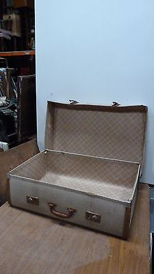 large Vintage Travel Suitcase Expanding Hinges  - Prop / Display Item (5726)