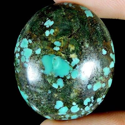 29.70cts 100% NATURAL DESIGNER TIBET TURQUOISE OVAL CABOCHON A+ QUALITY GEMSTONE