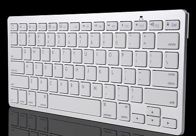 Ultra Slim Bluetooth Wireless Keyboard For Apple iPad iPhone Android