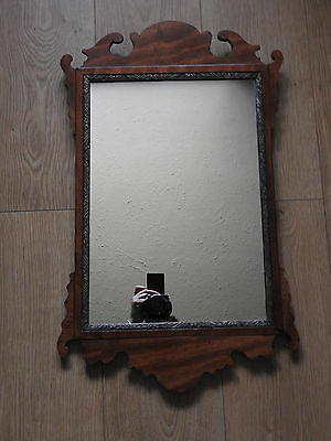 antique gilt and wooden framed ornated wall mirror