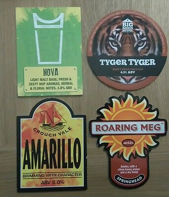 4 Pump clips/badges from Various Breweries