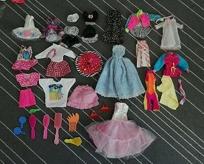 Vintage Sindy Barbie doll clothes accessories large bundle dress lingerie skirt