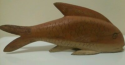 Fish wooden hand carved