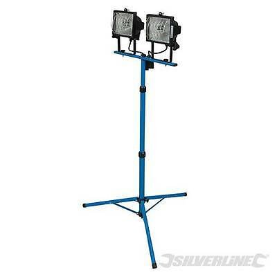 Twin Head Telescopic Halogen Floodlight Work Site  500W Next Day Delivery