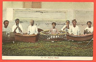Malaya 1910s p/card Performance by a Malay orchestra
