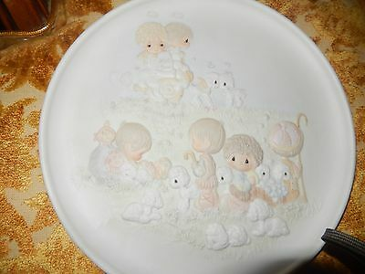 Precious Moments Collector's Plate 1984 by Sam Butcher