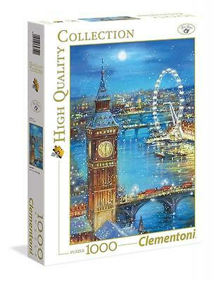 Clementoni 39319 Snow Flakes on the Big Ben 1000 Pieces High Quality Puzzle