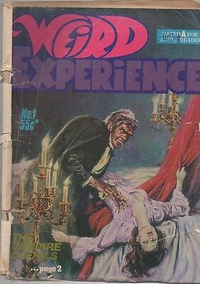 WEIRD EXPERIENCE  No 1    1970S by GREDOWN PTY LTD AUST COMIC  VG