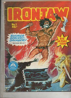 IRONJAW   No 1    1975 by GREDOWN PTY LTD AUST   FINE 'VERY RARE GREDOWN ISSUE'