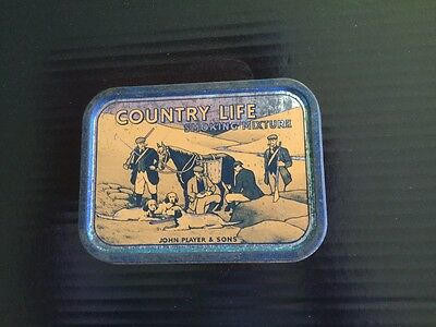 """Collectable John Player & Sons """"Country Life """" Tobacco Tin"""