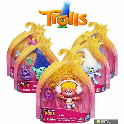 Hasbro Dreamworks Trolls Kids Collectable Figure Fun Girls Dress Up Toy 4 inch