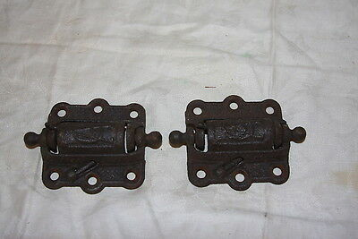 Antique Cast Iron Sping Loaded Self Closing Screen Door Hinges