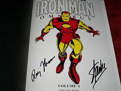 Iron Man Avengers Movie Variant Marvel Omnibus 1 Nm Signed By Stan Lee & Thomas