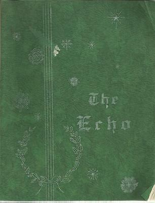 The Echo Winter 1938 Immaculate Heart Academy