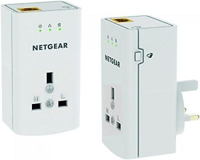 NETGEAR XAVB5421-100UKS 1 Port 500 Mbps Powerline Adapter with Extra Outlet