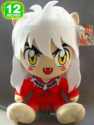 2016 Inuyasha sitting Inuyasha rare doll plush toy new 12""