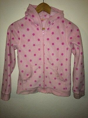 Cherokee Fleece Hooded Jacket Age 10-11 Years Pale Pink With Spots  R5897